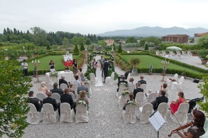A ceremony at Villa Monte (sleeps 22) near Lucca.