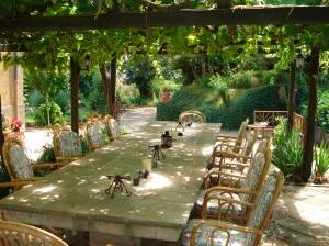A perfect spot for al fresco meals at Villa del Castello!