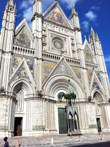 The spectacular duomo in Orvieto.