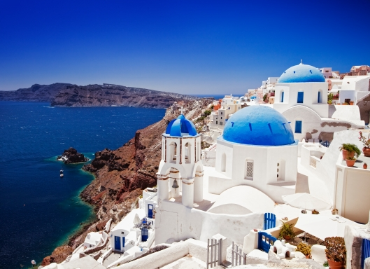 The village of Oia on Mykonos.
