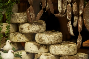 Shop for local salumi and cheeses--perfect for a simple supper at the villa!