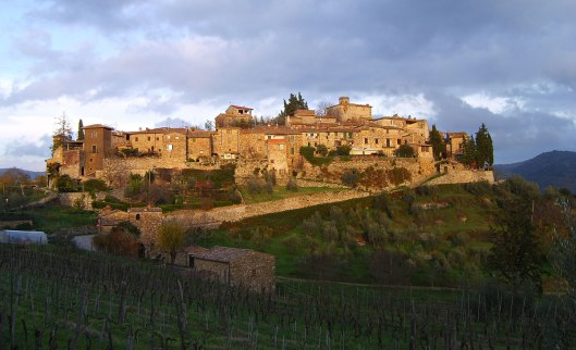 The beautiful village of Montefioralle--your second tour stop!