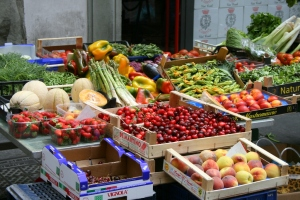 You'll find a bounty of fresh, seasonal produce at weekly markets.