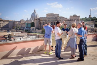 Enjoy an incredible view of the Vatican during your cooking school experience in Rome!