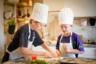 Kids cook, too, at our Dolce Vita cooking class!